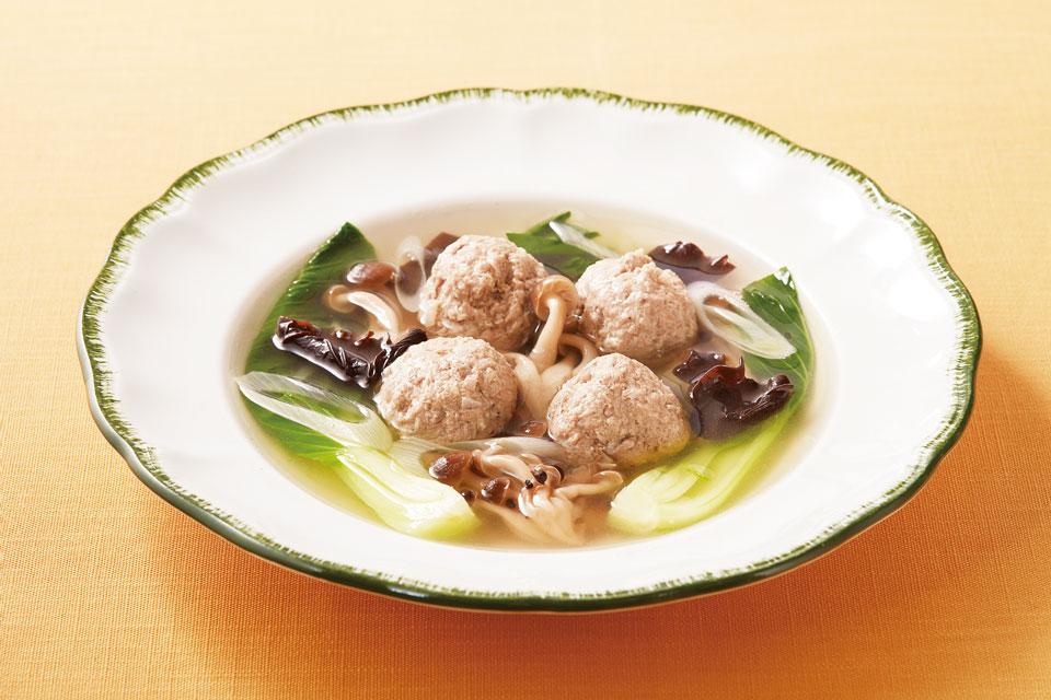 肉団子ときのこの巡らせスープ