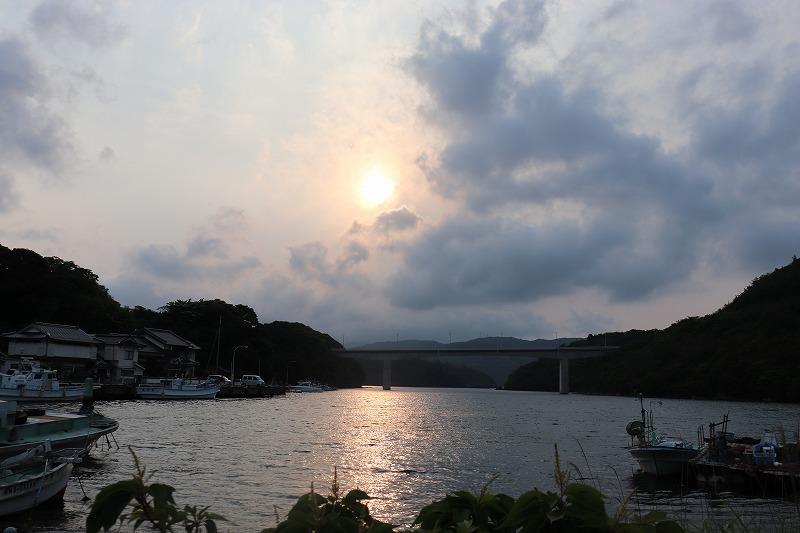 海士町の夕日