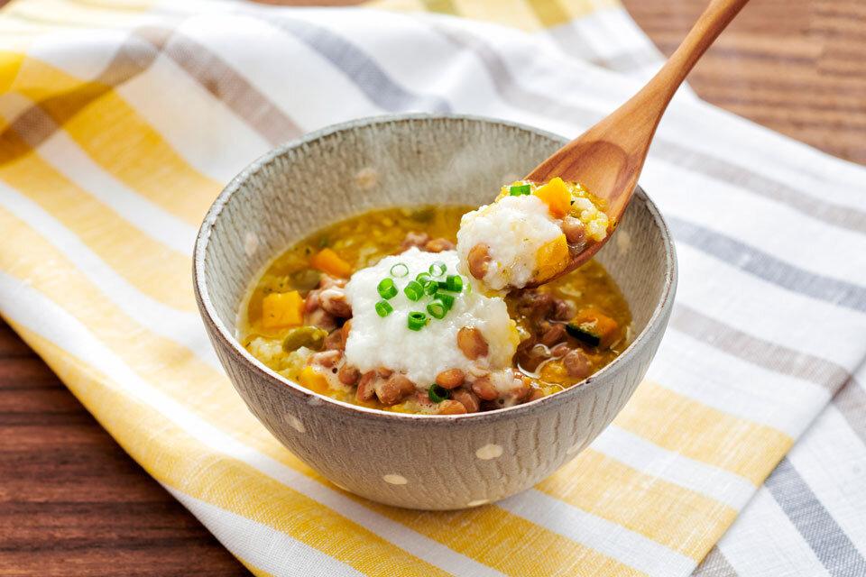 ネバネバ納豆粥
