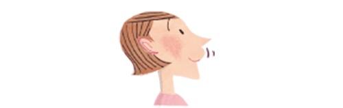 口の体操のイラスト