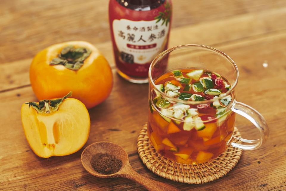 高麗人参酒×オールスパイス×柿のホットカクテル
