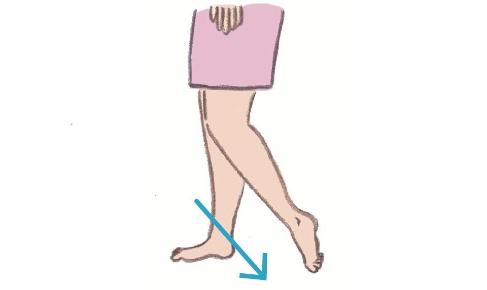 胃経を伸ばす図