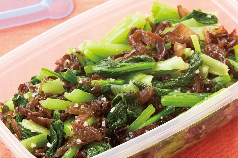 小松菜と黒きくらげのナムル