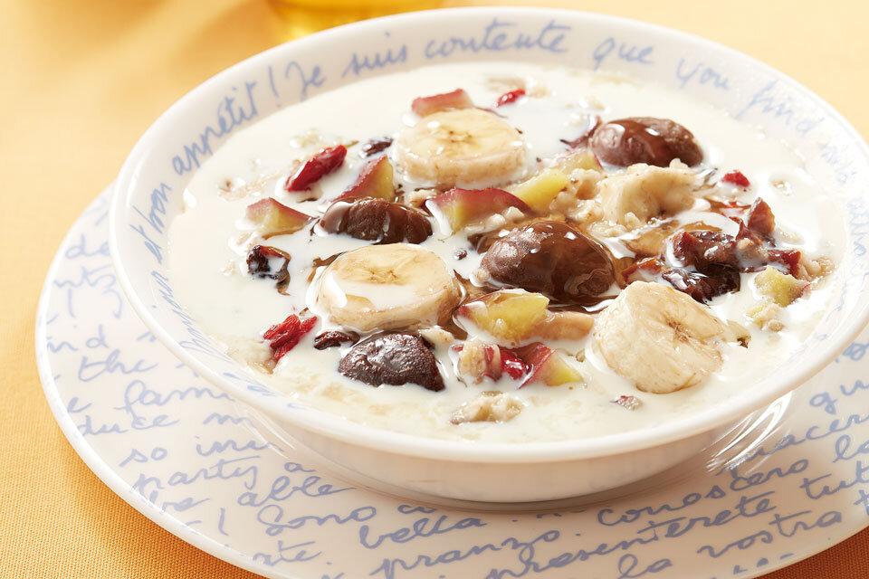 オートミール朝食