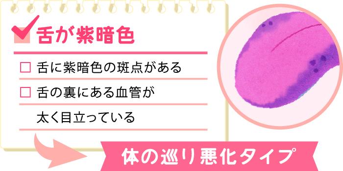 紫の舌のチェックリスト