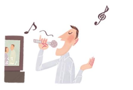 歌っているイラスト