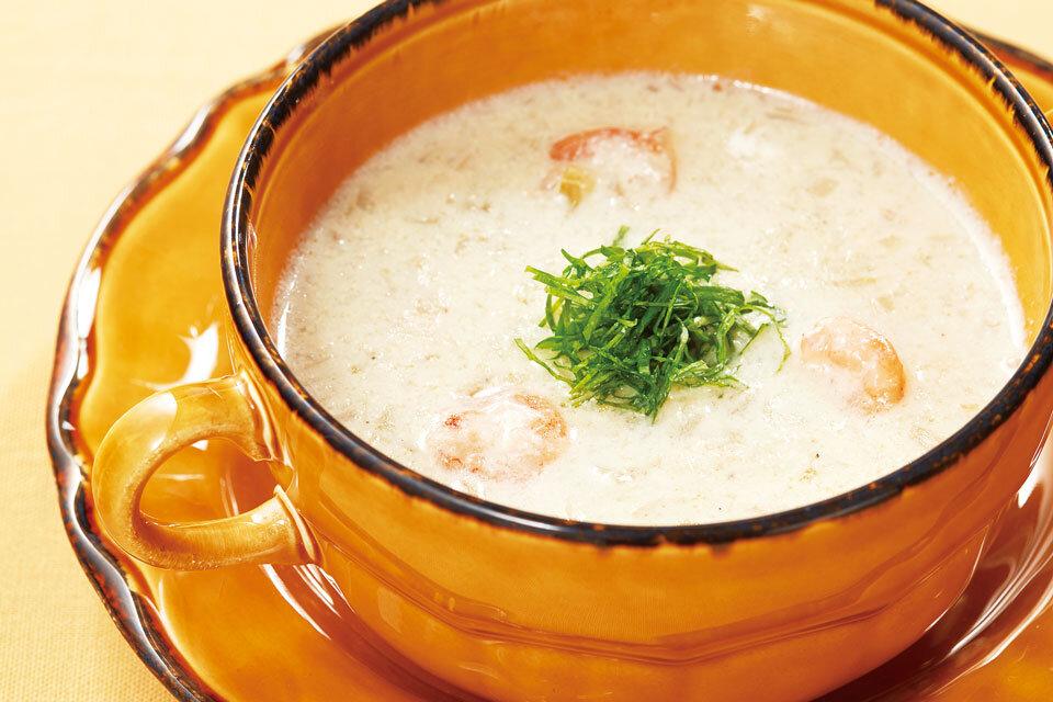 れんこんの豆乳スープ