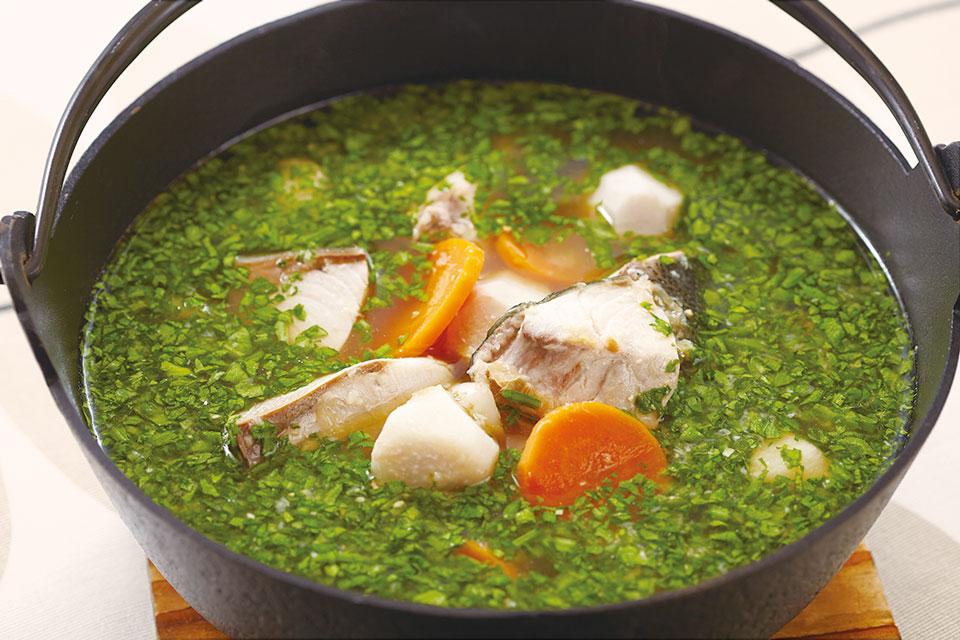 ブリと里芋のにんにく生姜みそ煮込み鍋