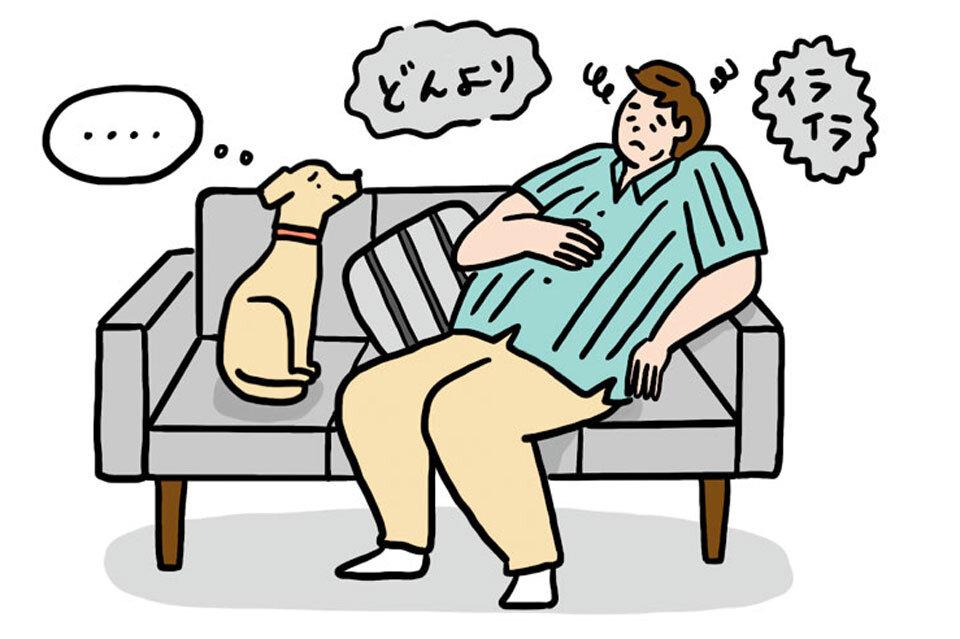 テレワークでストレスを受ける夏太郎さん