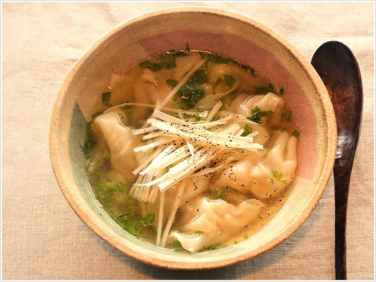 レシピ スープ 水 餃子